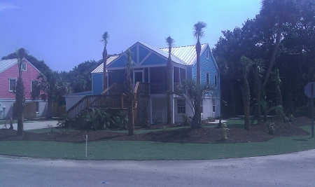 Front of Home (Blue with white trim)