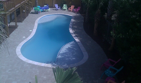 46 ft. Salt Water Pool, also has 6 inch wadding area for toddlers