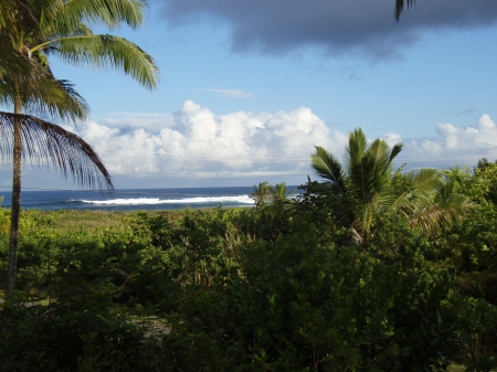 View from the deck of Pualani Home in Kapoho, Hawaii