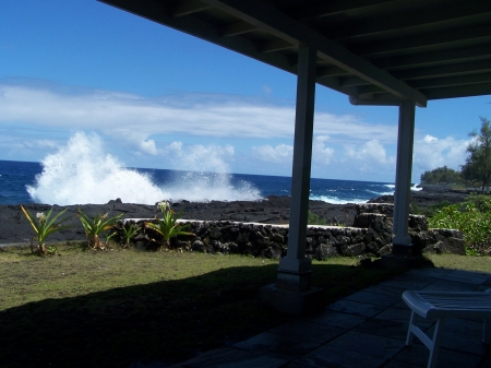 Big Island Oceanfront Alohahouse - Live on the Edge of the Blue Pacific!