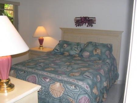 Master bedroom has queen pillow-top mattress bed and private full bath